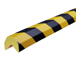 Type AA yellow-black corner protection bumper guard