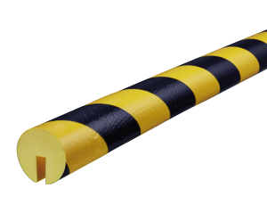 Type B black-yellow edge protection bumper guards