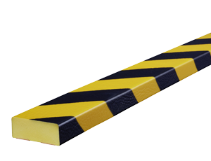 Type D yellow-black surface protection bumper guards