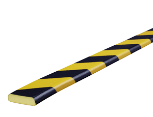 Type F black-yellow surface protection bumper guards
