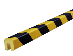 Type G yellow-black edge protection bumper guards