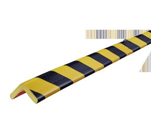 Type H yellow-black corner protection bumper guard