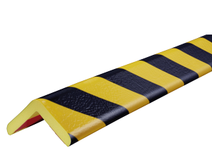 Type H yellow-black corner protection bumper guard