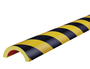 Type R50 yellow-black pipe protection bumper guards