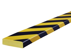Type S yellow-black surface protection bumper guards