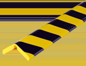 Type H+ flex-yellow-black corner protection bumper guard